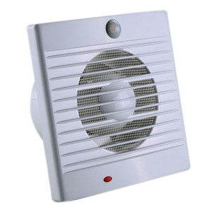 The Sensa-flow is a square wall or window exhaust fan with a PIR motion Sensor. Any Subsequent/new movement will restart the ON time for 1 minute. It includes an integrated fly-proof net. Its Ball bearing motor has a quiet operation. Included is a mounting kit and fastening ring for window installation and 40cm 2-wire lead for hardwired installation. It also includes a backdraft shutter.