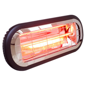 Infrared 1000w Radiant Heater suitable for bathrooms. Features 1 x 1000w infrared heat lamp and compact design. Engineered to mazimize efficient heat distribution witl low glare, long range heat output.