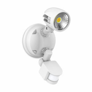 13W Security Spot W/Sensor IP54 White