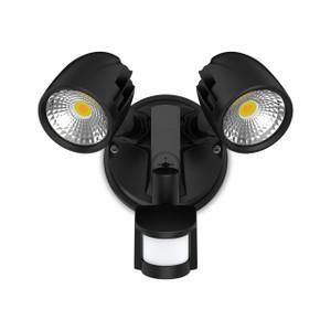 24W Twin Security Spot W/Sensor IP54 Black