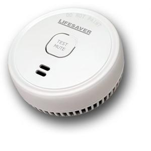 Lifesaver 9V Photoelectric Smoke Alarm