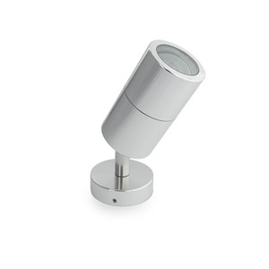 6W Adjustable wall spot with Glass Diffuser – GU10 LED Lamp Included Silver