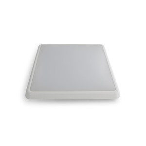 LED Square Low Profile Dimmable IP54 Poly Oyster with White or Silver Trim