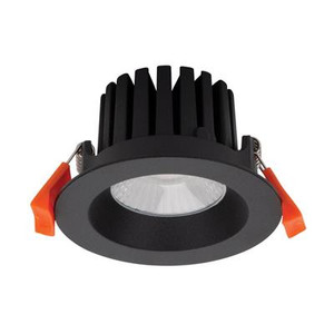 AQUA-10 Round 10W LED Dimmable Downlight - Textured Black Frame