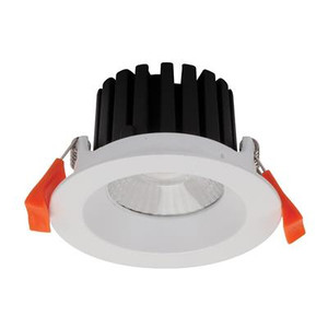 AQUA-10 Round 10W LED Dimmable Downlight - Satin White Frame