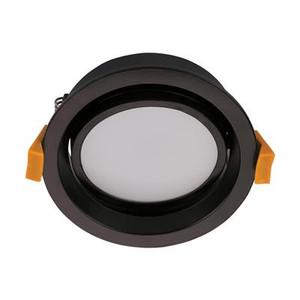 DECO-13 Round 13W Dimmable LED Tiltable Downlight - Matt Black Frame