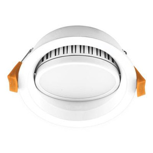 DECO-13 Round 13W Dimmable LED Tiltable Downlight - White Frame