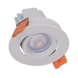 POCKET-3 3W LED Tiltable Miniature Downlight - White Frame