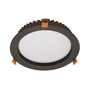 DECO-28 Round 28W Dimmable LED Downlight - Black Frame