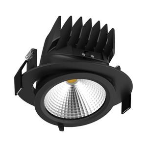 SCOOP-25 Round 25W Adjustable LED Downlight - Black Frame