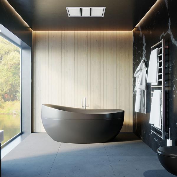 Tastic Luminate Dual 3 in 1 Bathroom Heater, Exhaust Fan & Light - Silver