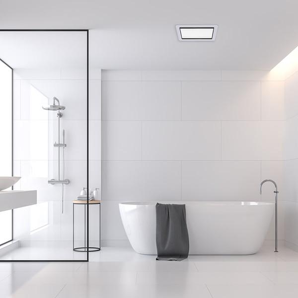Tastic Luminate Vent & Light - Bathroom Exhaust Fan & Light - Silver