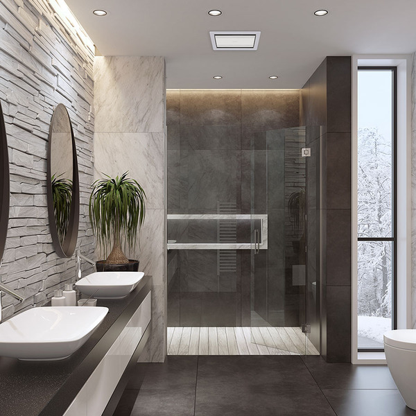 Tastic Luminate Vent - Bathroom Exhaust Fan - Silver