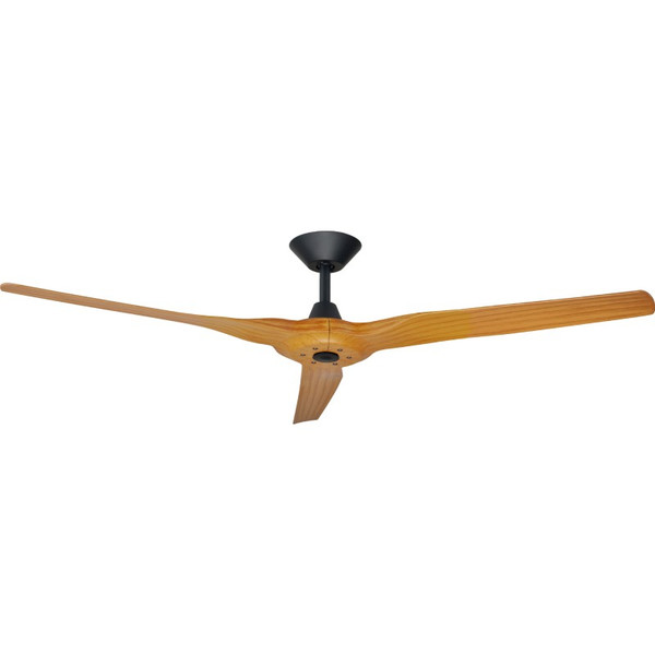 Exceptional efficiency and extremely high airflow are the characteristics of the DC Radical 2 ceiling fan featurning state of the art 1520mm aerodynamic moulded plast ic blades in white, black, bamboo or Koa.