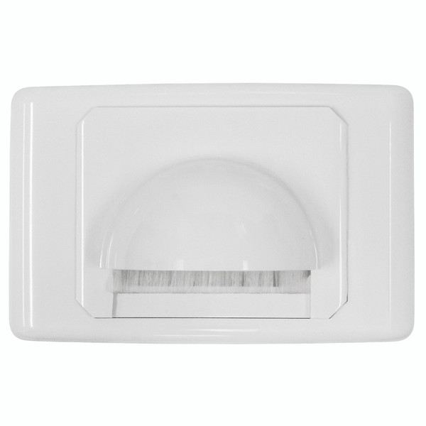 Bull Nose Outlet Plate with Brush Cover