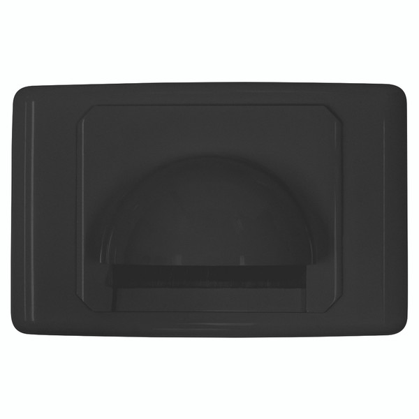 Bull Nose Outlet Plate with Brush Cover Black