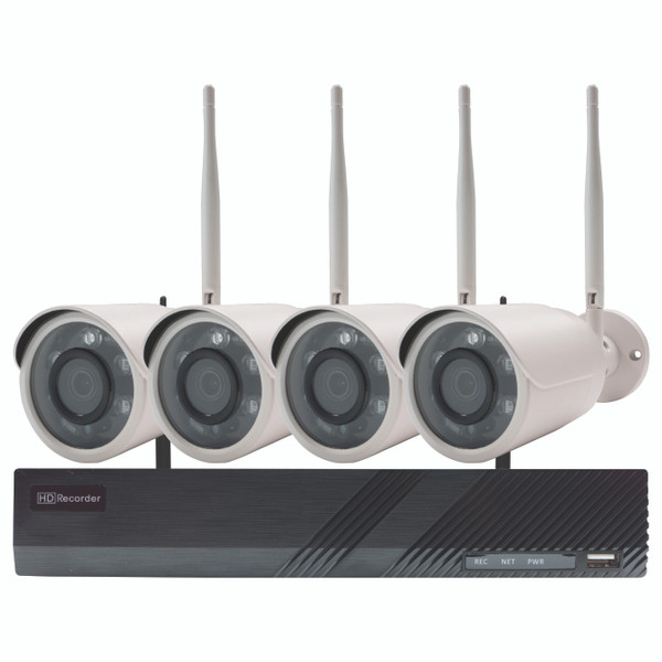 Wi-Fi Security 8CH NVR Kit with 2TB HDD, 4x 2MP Bullet