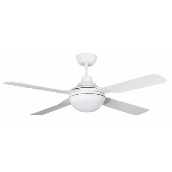 ABS Versatility. The Discovery ceiling fan is a sleek and modern ceiling fan with a powerful yet efficient 60W motor. Discovery features durable ABS blades and is fully reversible for summer and winter use. Includes 15W TriColour Dimmable LED Light.