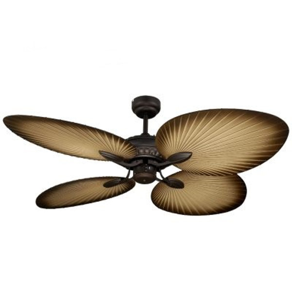 The Oasis epitomises the beauty of a traditional Balinese palm leaf fan, perfect for any household that wants to spruce up their relax room. With four palm leaf shaped blades, the Oasis has excellent airflow and a tropical design intended for enclosed patios or any room which needs a relaxing feel.