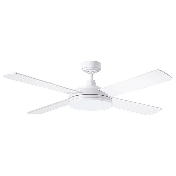An ultra slim profile and elegant designed fan with a 28W TriColour Dimmable LED Light.