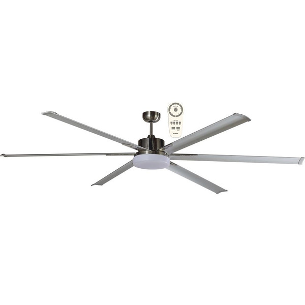 """The Albatross 72"""" DC ceiling fan is a powerful and efficient ceiling fan thanks to its 35W brushless DC motor. The ceiling fan is also available in an 84"""" (2100mm) diameter. This ceiling fan Includes a 5 speed remote control with a timer and reverse functions, for added convenience. Includes 24W Dimmable LED Light with Warm White (3000K) or Cool White (5000K) lighting options available."""