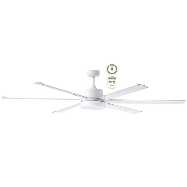 """The Albatross 84"""" DC ceiling fan is a powerful and efficient ceiling fan thanks to its 35W brushless DC motor. The ceiling fan is also available in an 72"""" (1800mm) diameter. This ceiling  fan Includes a 5 speed remote control with a timer and reverse functions, for added convenience. Includes 24W Dimmable LED Light with Warm White (3000K) or Cool White (5000K) lighting options available."""