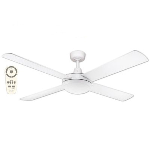 "Lifestyle 52"" DC Ceiling Fan with Light and Remote White"