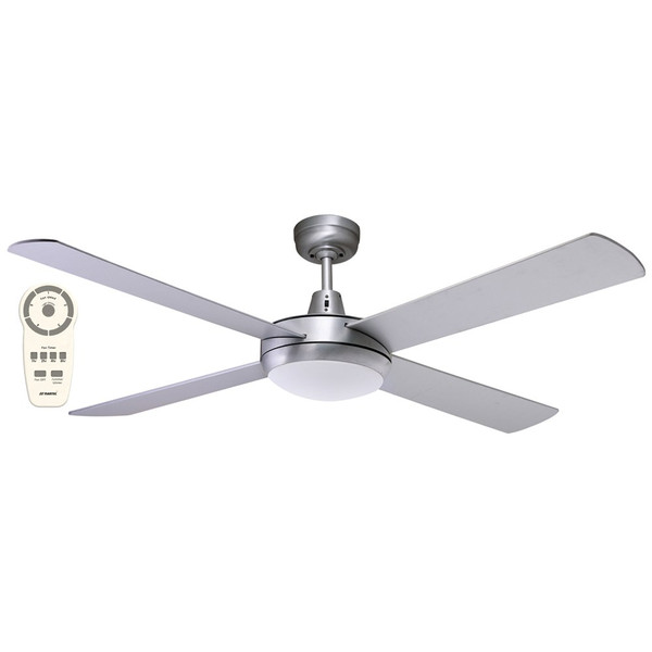 """Lifestyle 52"""" DC Ceiling Fan with Light Brushed Aluminium"""