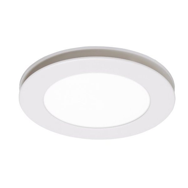 A circular exhaust fan featuring a low profile, slim design and high air extraction. Includes TriColour LED light.