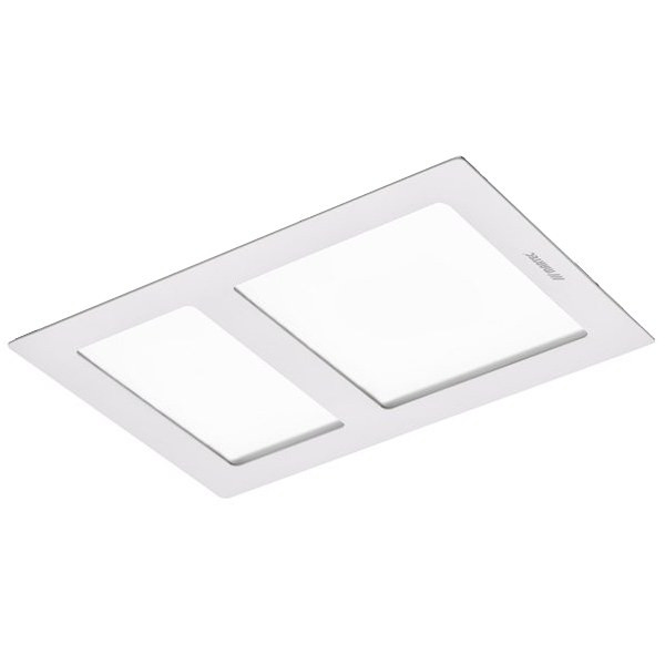 A sleek and modern bathroom 3-in-1 with 2 x 400W infrared heat tubes, 20W TriColour LED light and high, super quiet air extraction.