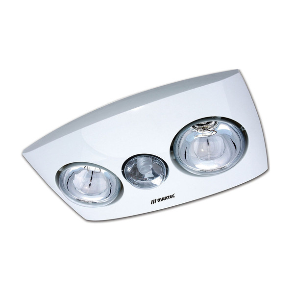 Contour 2 features a low profile that is ideal for all contemporary bathroom design. It comes complete with 2 x 275W infrared heat lamp to any bathroom that requires instant heat. Available in white and silver finish.