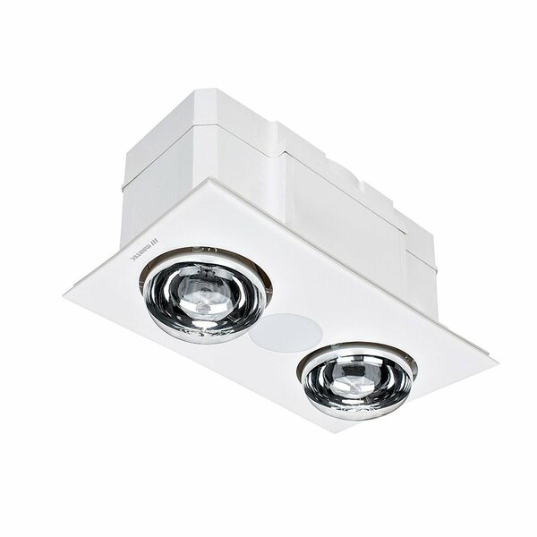 The powerful and efficient Forme 2 - 3 in 1 Bathroom Heater comes with a high quality turbo fan, known for it's excellent, yet quiet, operation. Good ventilation is essential in any bathroom, to prevent the build up of mould and mildew. As a result, the Forme 2 features a 45W motor with a powerful turbo fan.