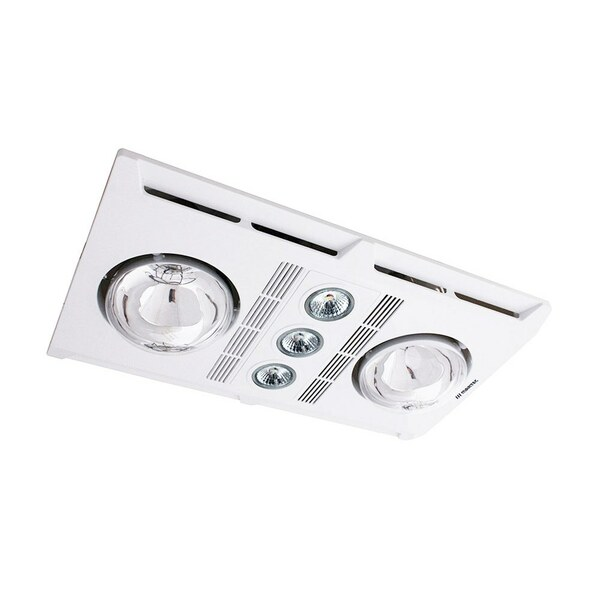 Profile Plus 2 features a low profile that is ideal for all contemporary bathroom design. It comes complete with 2 x 275W infrared heat lamps and 3 x GU10 LED lamp 3000K.