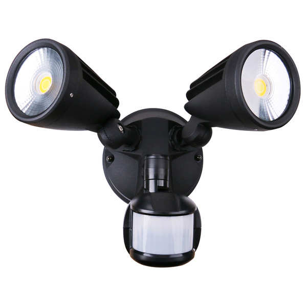 Fortress II is a double insulated and IP54 ingress protection TriColour LED security light. It features a vertical and horizontal adjustable head and can be wall or ceiling mounted. Making the Fortress II the perfect light for entry ways, alfresco, garages and walkways. Also available without PIR Sensor.
