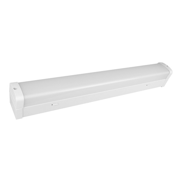 Simplet yet functional 20W LED batten. Available in 600mm or 1200mm with switchable TriColour LED. Featuring an energy efficient tubeless design as well as shatter resistant polycarbonate diffuser this batten is ideal for use in garages, workshops, industrial environments and more.