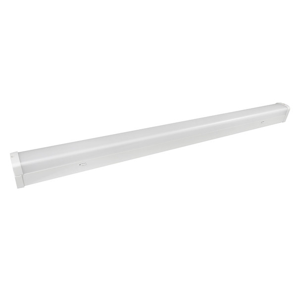 Simplet yet functional 20W LED batten. Available in 600mm or 1200mm with switchable TriColour LED. Featuring an energy efficient tubeless design as well as shatter resistant polycarbonate diffuser this batten is ideal for use in garages, workshops, industrial environments and more. Optional sensor and emergency backup available (Sold Separately).