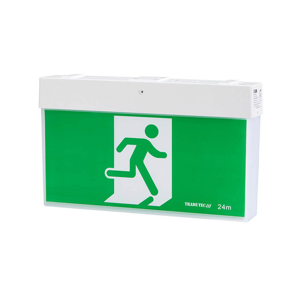 This 3W emergency exit LED light with rechargable battery pack with a stylish, quick connect LED exit luminaire for interior exit sign application. Features long LED life of 50,000 hours (approx.).