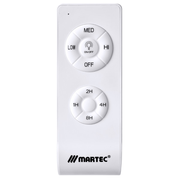 The Martec Prince smart remote control is both stylish and of course the highest quality. The Prince smart remote control features the latest Martec OneTouch app technology. The Martec OneTouch app enables the convenient control of multiple compatible Martec Ceiling Fans with the addition of advanced timer function, speed control, security settings and more.