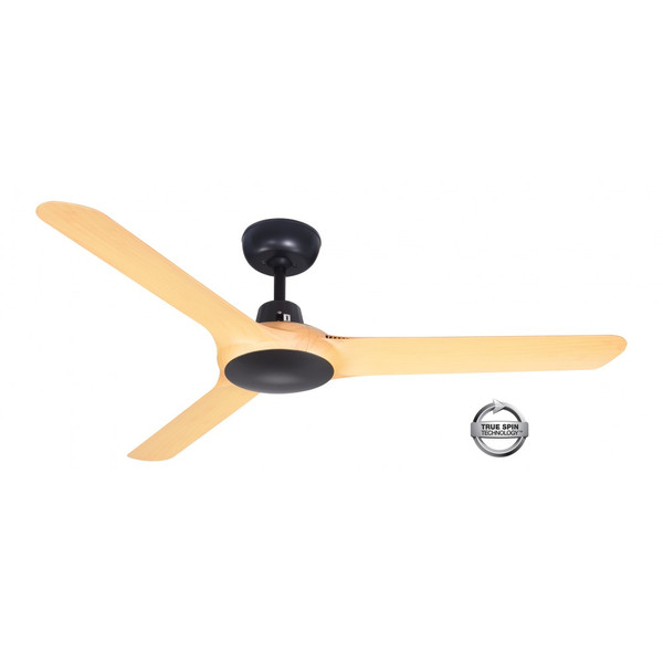 1250mm Fully Moulded Polycarbonate Composite 3 Blade Ceiling Fan with True Spin Technology motor. Suitable for indoor and covered outdoor applications.