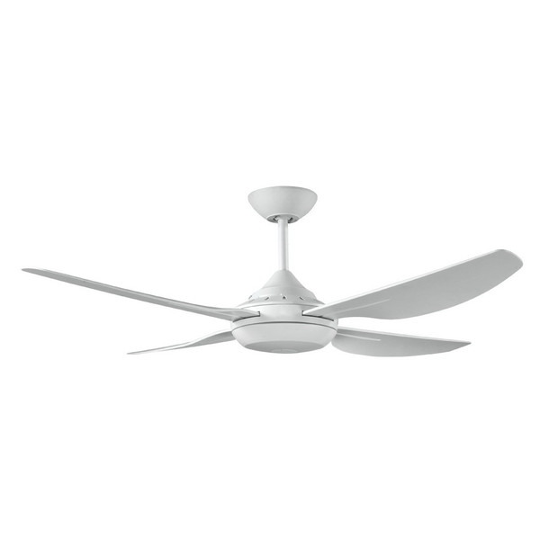 New Generation 1220mm precision moulded ABS 4 blade white ceiling fan. Suitable for indoor and covered outdoor areas.