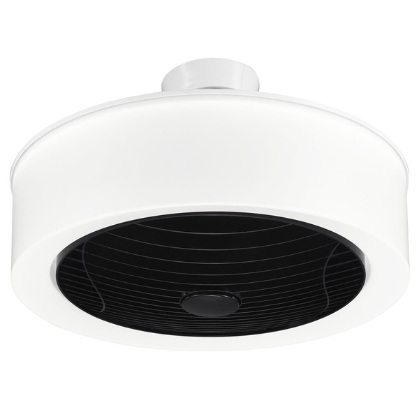 Fully enclosed Ceiling Fan with 24W, 360º LED light diffuser and 3 speed remote control with LED dimmer function included. Unique stylish design offers a safe, clean and compact look.