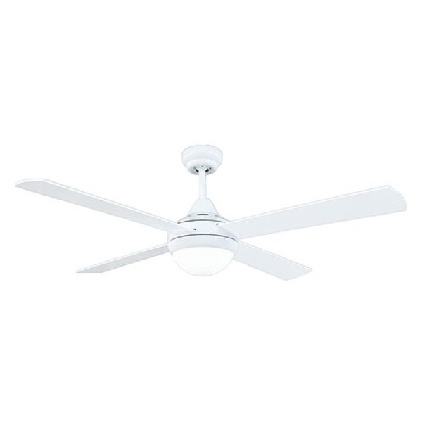 "Tempo-R 4 Blade 52"" Ceiling Fan with Light and Remote White"