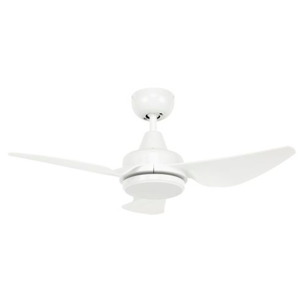 Como has 3 ABS blades with an aerodynamic design to give you an effective air flow. Its contemporary design will suit most decors. Durable metal body and canopy construction, with 3 high strength moulded ABS blades 3 speed wall control with switch included.
