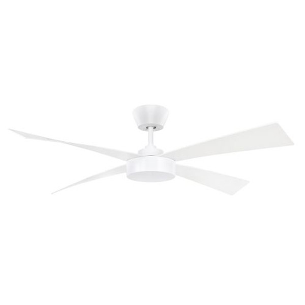 The sleek, clean lines of the 132cm Fairwind's fresh symmetry suits all decors. The ABS blades add to the design using hidden blade supports but also provides superior performance and airflow. Available in either a white or black finish