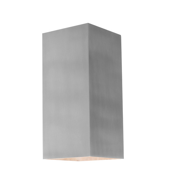 Modern Energy saving LED Exterior Wall Light with Aluminium Finish. Perfect for entranceways, patios and exterior under cover walls. Includes 3W LED lamp.