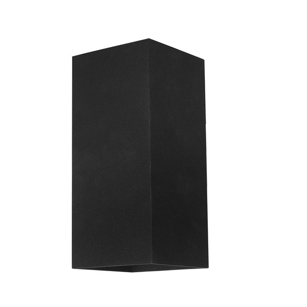 Modern Energy saving LED Exterior Wall Light with Black Finish. Perfect for entranceways, patios and exterior under cover walls. Includes 3W LED lamp.