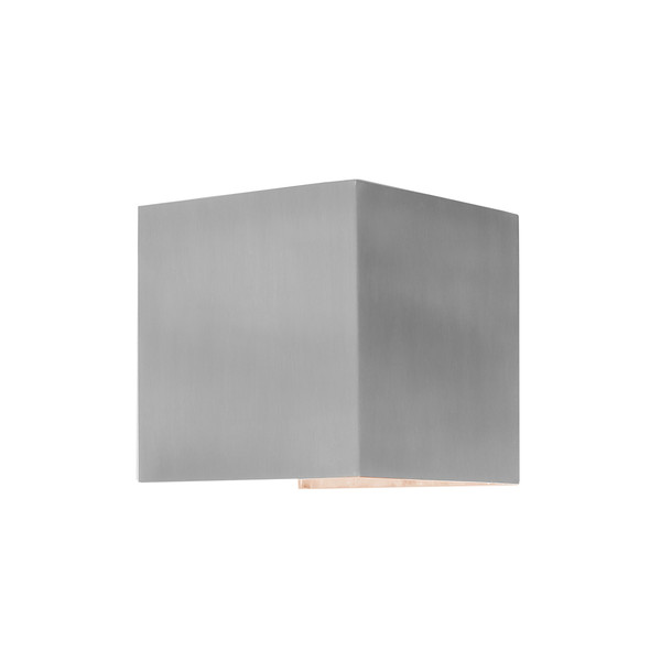 Modern Square Energy Saving LED Exterior Up/Down Wall Light. Includes 2 x 3W Integrated LED Lights to Provide a Subtle Luminance to Your Outdoor Areas.