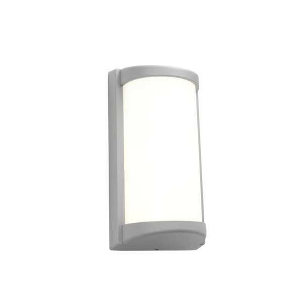 Logan is a 10W LED Exterior Wall Light with Opal Acrylic Lens and Silver Aluminium Contruction. Suited for Coastal Areas on Exterior Walls, Under Eaves, Patios and Alfresco Areas.