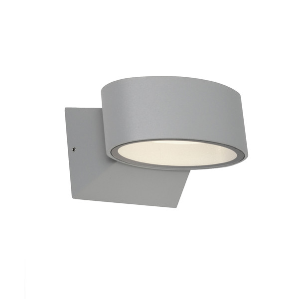 Quebec is a Unique LED Exterior Wall Light with Clear Glass and Silver Finish. Featuring a 6W COB LED and IP54 Construction Suitable for Exterior Walls Around the Home.