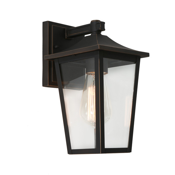 York is a Traditional Exterior Wall Light with Clear Glass Panels and Stunning Bronze Finish. Perfect for Entranceways and Exterior Walls.